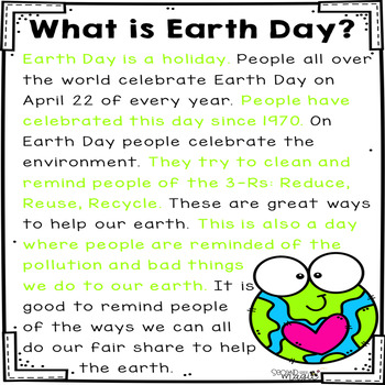 Earth Day Partner Paragraphs FREEBIE!!