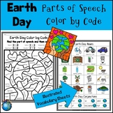 Earth Day Parts of Speech Color by Code