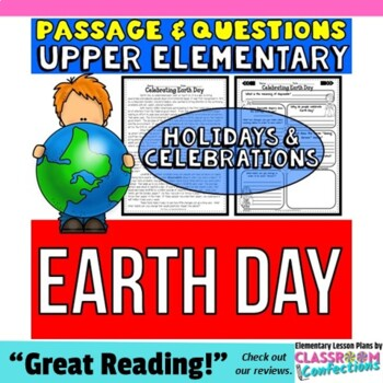 Earth Day: Reading Passage and Questions: Reading Comprehension Activity