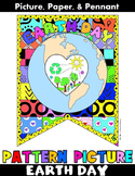 "Earth Day Activity:""Pattern Pictures"": Earth Day Writing Banner"