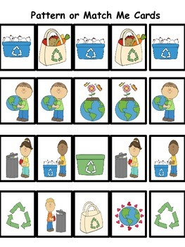 Earth Day Pattern or Match Me Cards