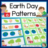 Earth Day Math Center with AB, ABC, AAB & ABB patterns