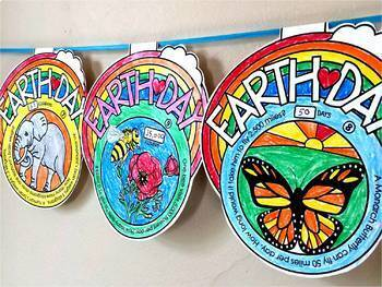 Earth Day Pennant Activity