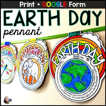 Earth Day Math Pennant Activity