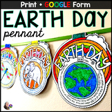 Earth Day Math Word Problems Pennant Activity - print & GOOGLE Form