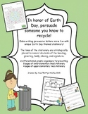 Earth Day Persuasive Letter