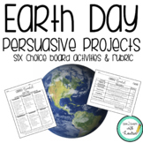 Earth Day Persuasive Activities (Editable)