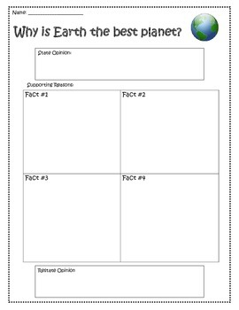 Earth Day Persuasive Writing Planner