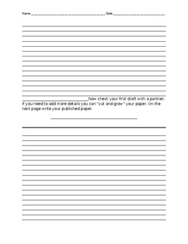 Earth Day Persuasive writing - upper elementary