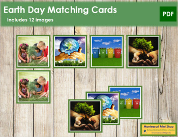 Earth Day Photo Matching Cards