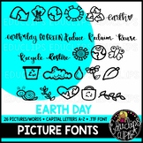 Earth Day Picture Font {Educlips Clipart}