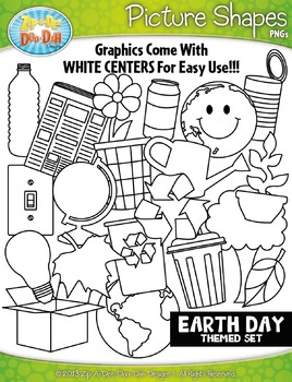 Earth Day Picture Shapes Clipart {Zip-A-Dee-Doo-Dah Designs}