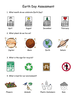 Earth Day Picture Supported Assessment and Recycling Picture sorts