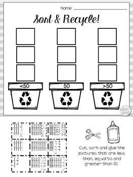 Earth Day Place Value Worksheets