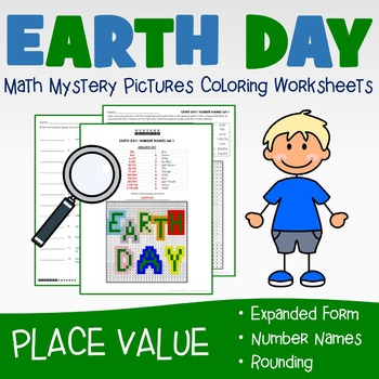 2nd Grade Place Value Mystery Pictures Coloring Worksheets Bundle ...