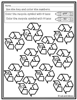 FREE Earth Day Place Value Find and Color Printables