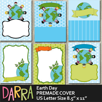 Earth Day Planner Binder Cover Page Background Premade
