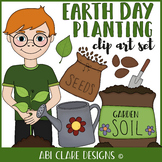 Earth Day Planting Clip Art Set