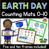Earth Day Play Dough Counting Mats and Frames 0-10