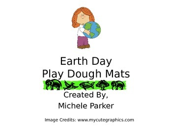 Earth Day Play Dough/Play-Doh/Playdough Mats
