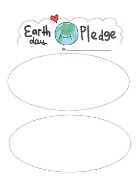 Earth Day Pledge Any Grade