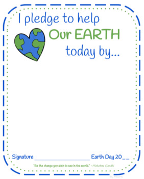 Earth Day Pledge FREE
