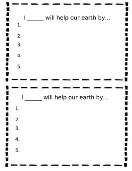Earth Day Pledge Form