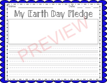 Earth Day Writing & Craft: My Earth Day Pledge