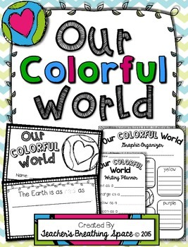"Earth Day Book --- ""Our Colorful World"" Book and Poem --- Earth Day Writing"
