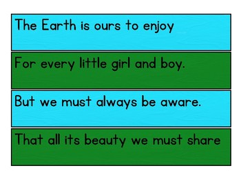 Earth Day Poem Poetry Center Pack