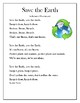 Earth Day Poem and Activity