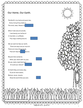 Earth Day Poem for Shared Reading