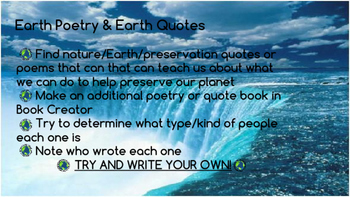 Earth Day Poetry Design Brief