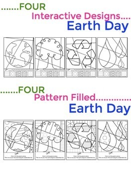Earth Day Activity - Pop Art Coloring Sheets