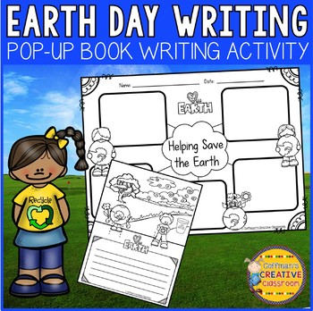 Earth Day Writing Activity Pop Up Book
