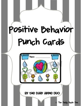 Earth Day Positive Behavior Punch Cards