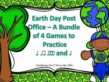 Earth Day Post Office - A Bundle of 4 Games to Practice Rhythm