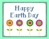Earth Day Poster, Class Decor, Holiday Sign, Bulletin Board