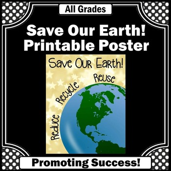Earth Day Poster for Science Centers Printable Classroom D