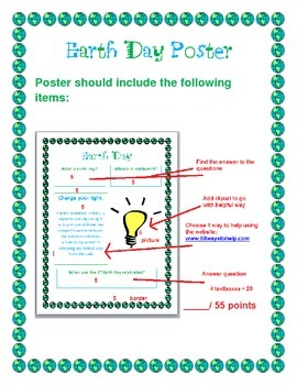 Earth Day Poster/ Websearch