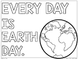 Earth Day Poster and Writing Activity | Every Day is Earth Day