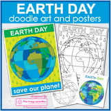 Earth Day Coloring Pages | Globe Art Painting Lesson