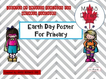 Earth Day Poster for Primary