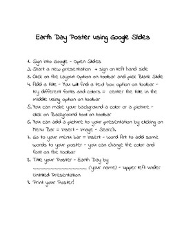Earth Day Poster using Google Slides