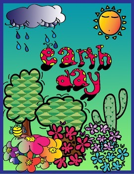 Earth Day Posters Color and Ready to Color
