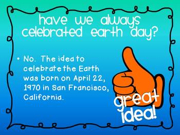 Earth Day PowerPoint Fun and Informative