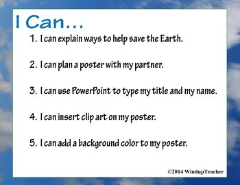 Earth Day PowerPoint Poster Project