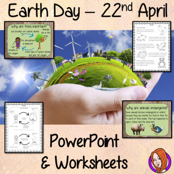 Earth Day  -  PowerPoint and Worksheets