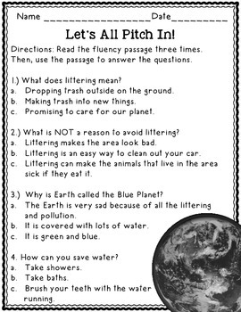 Earth Day: Practice Fluency with Informational Text