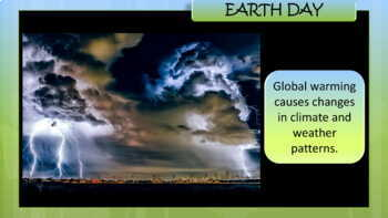 Earth Day Presentation - Simple Text For Young / Special Education Students